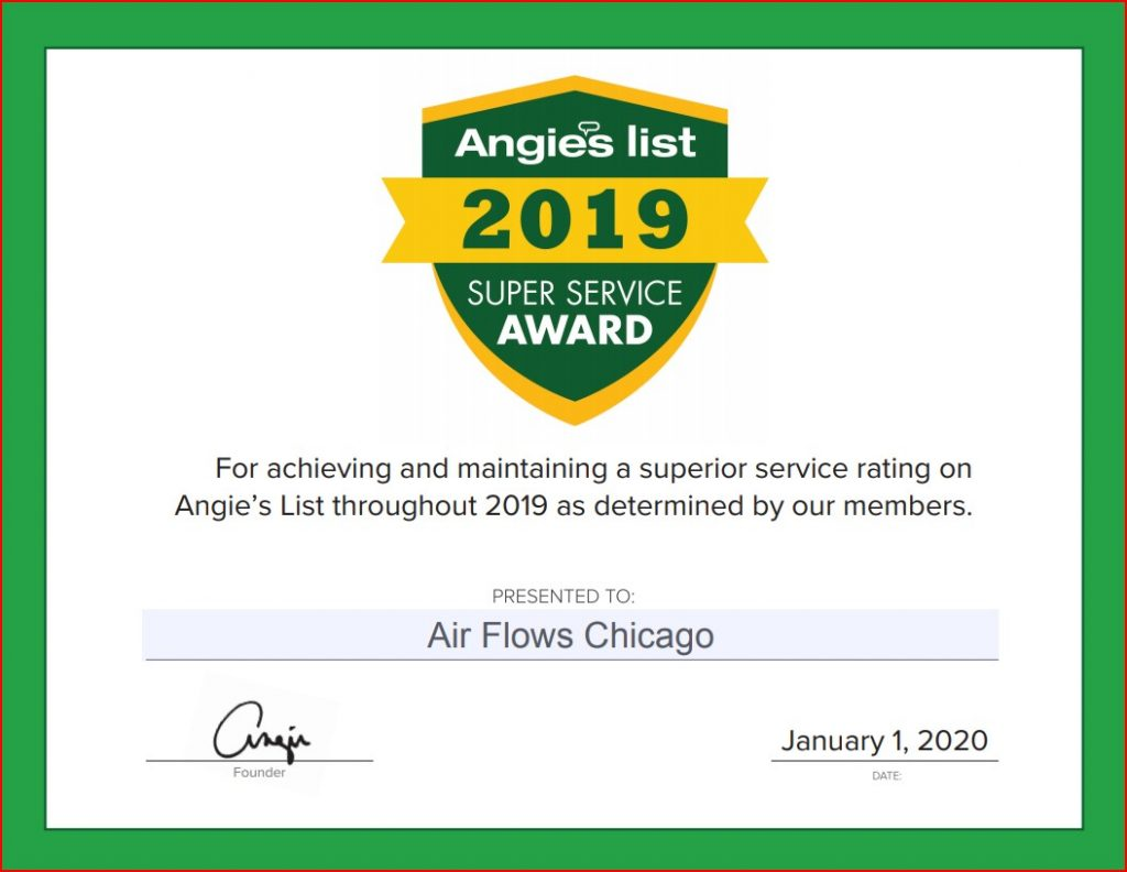Air Flow Awards Angie's list
